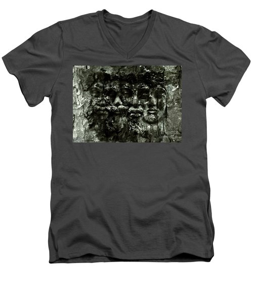 Faces Men's V-Neck T-Shirt