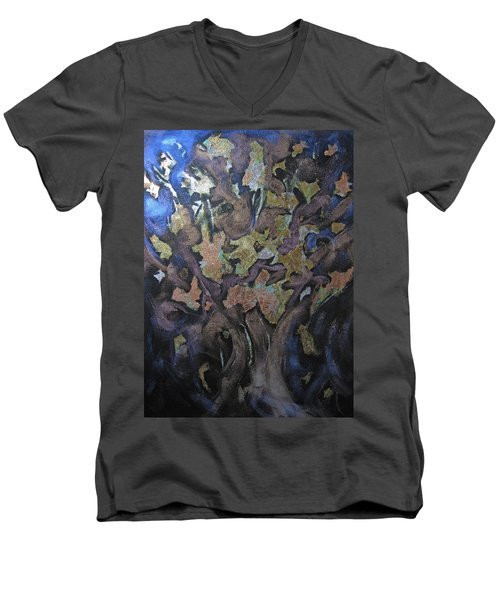 Faces Men's V-Neck T-Shirt by Roberta Rotunda