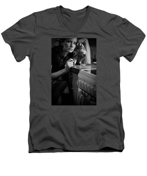 Facing Daily Reality Men's V-Neck T-Shirt