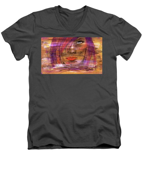 Fadding Away Men's V-Neck T-Shirt by P J Lewis