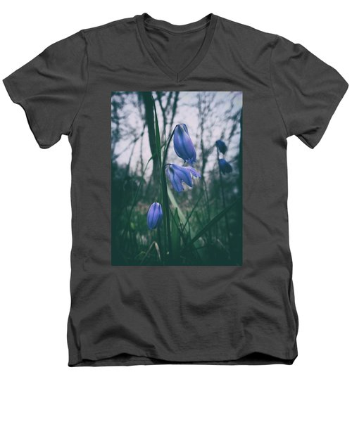Fade Into The Blue Men's V-Neck T-Shirt by Karen Stahlros