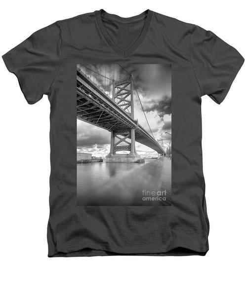 Fade To Bridge Men's V-Neck T-Shirt