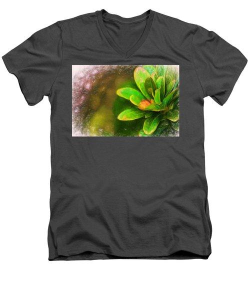 Faded Flora Men's V-Neck T-Shirt