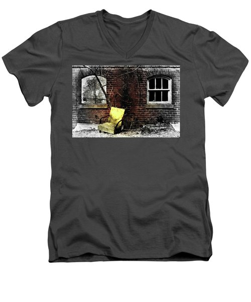 Men's V-Neck T-Shirt featuring the photograph Fading Away by Jessica Brawley