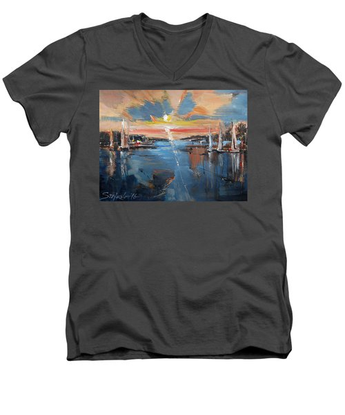 Fading Day Vi Men's V-Neck T-Shirt