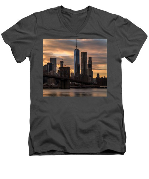 Fading Light  Men's V-Neck T-Shirt by Anthony Fields