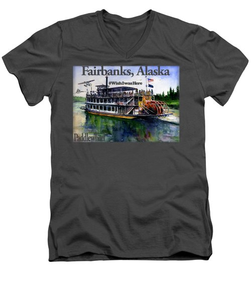 Fairbanks Paddle Wheel Shirt Men's V-Neck T-Shirt