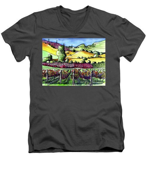 Fairfield Vineyards Men's V-Neck T-Shirt