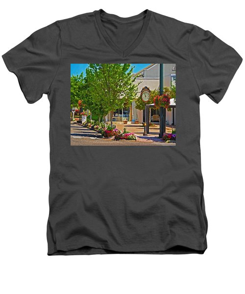 Fairhope Ave With Clock Looking North Up Section Street Men's V-Neck T-Shirt