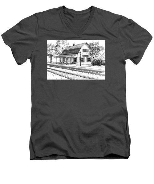 Fairview Ave Train Station Men's V-Neck T-Shirt