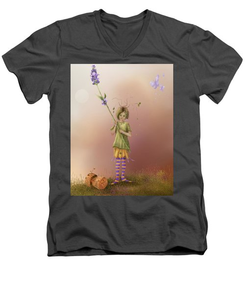 Fairy Bella Lavender Men's V-Neck T-Shirt