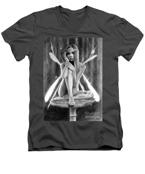 Fairy Drawing Men's V-Neck T-Shirt