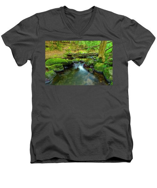 Fairy Glen Bridge Men's V-Neck T-Shirt