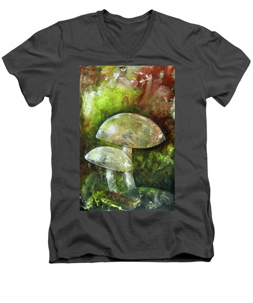 Fairy Kingdom Toadstool Men's V-Neck T-Shirt by Terry Honstead