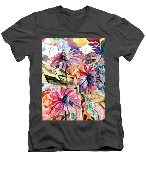 Fairy Land Men's V-Neck T-Shirt by Mindy Newman
