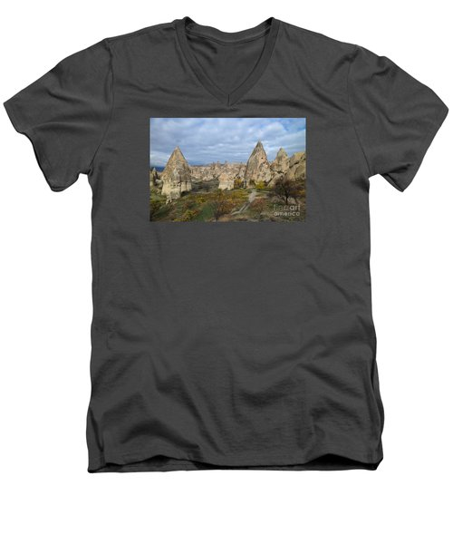 Fairy Tale Of Cappadocia Men's V-Neck T-Shirt by Yuri Santin