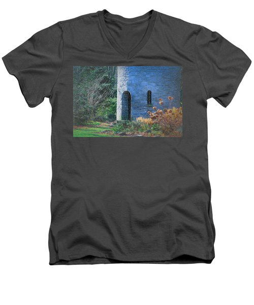 Fairy Tale Tower Men's V-Neck T-Shirt by Patrice Zinck