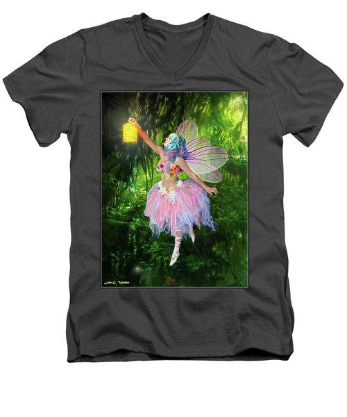 Fairy With Light Men's V-Neck T-Shirt