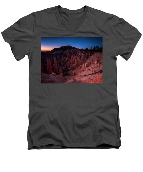 Men's V-Neck T-Shirt featuring the photograph Fairyland Canyon by Edgars Erglis