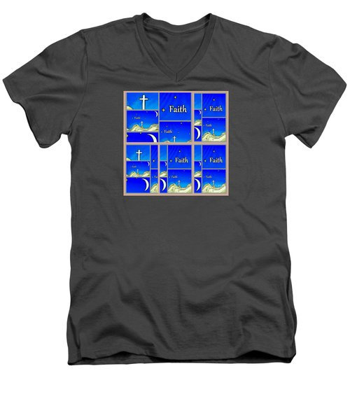Faith 6 Men's V-Neck T-Shirt
