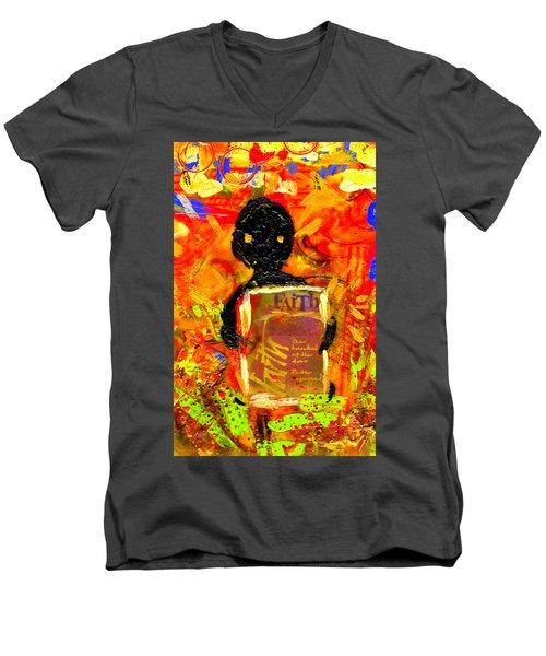 Faith And I Go Everywhere Men's V-Neck T-Shirt