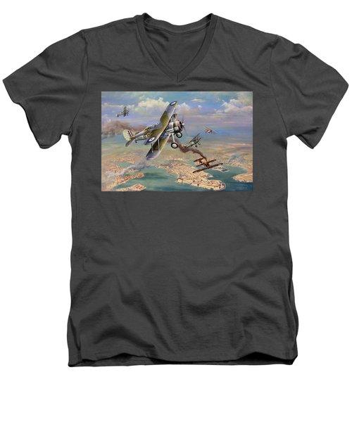 'faith, Hope And Charity' Men's V-Neck T-Shirt