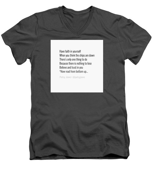Faith Men's V-Neck T-Shirt by Patsy Jawo
