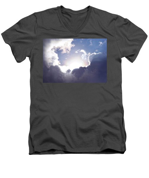 Men's V-Neck T-Shirt featuring the photograph Faithful Morning by Dreamland Media