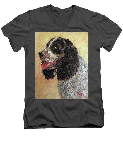 Faithful Spaniel Men's V-Neck T-Shirt