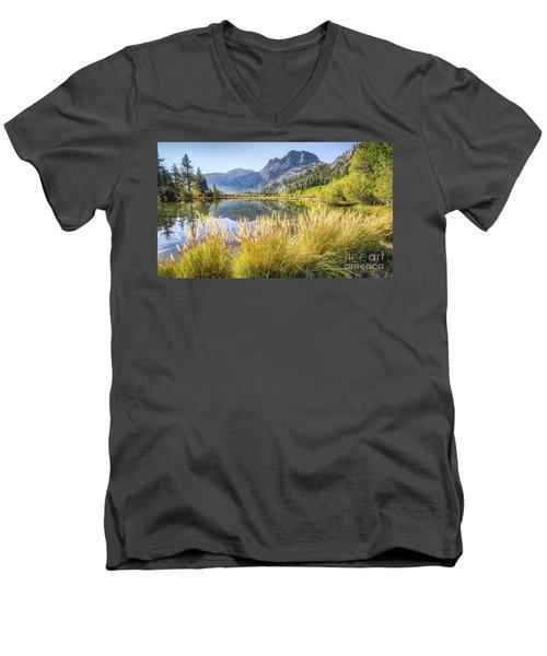 Fall Along The Creek Men's V-Neck T-Shirt