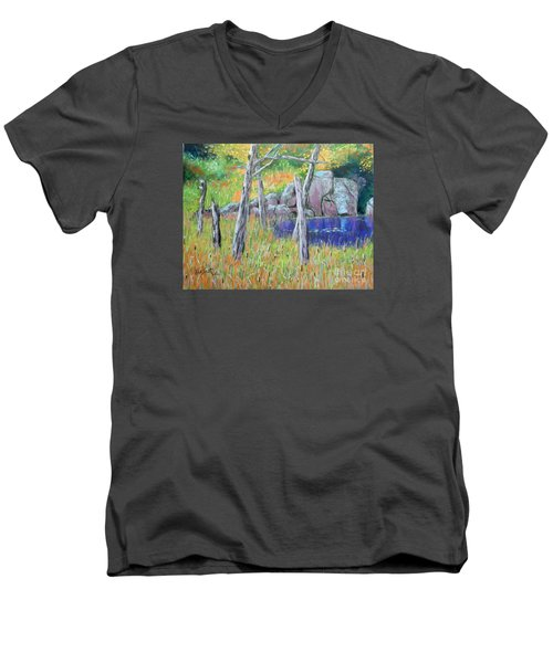 Fall  Along The Highwy  Men's V-Neck T-Shirt