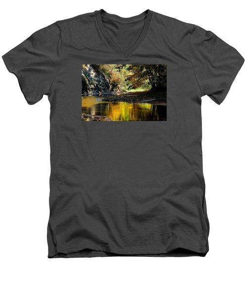 Fall At Big Creek Men's V-Neck T-Shirt