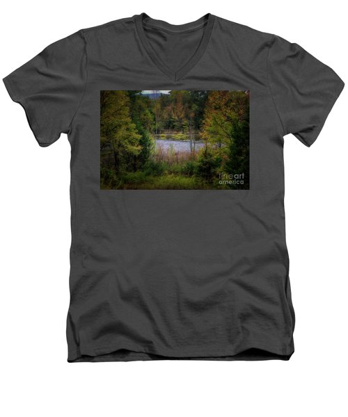 Fall At Fane Creek Men's V-Neck T-Shirt