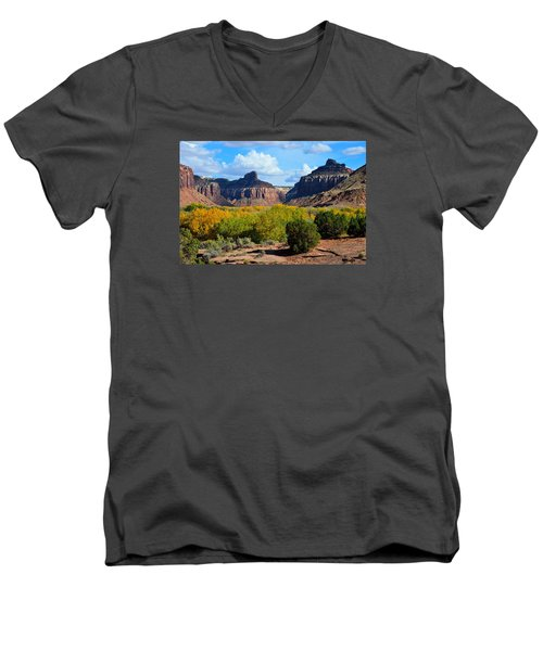 Fall At Indian Creek Men's V-Neck T-Shirt