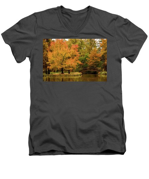 Fall At The Arboretum Men's V-Neck T-Shirt