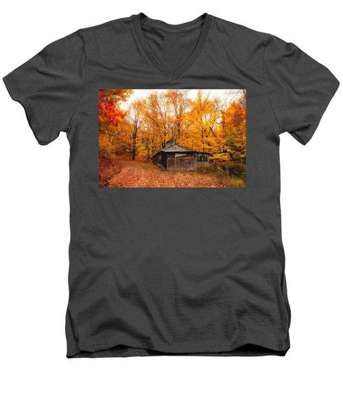 Fall At The Sugar House Men's V-Neck T-Shirt