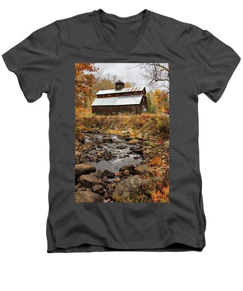 Fall Barn  Men's V-Neck T-Shirt