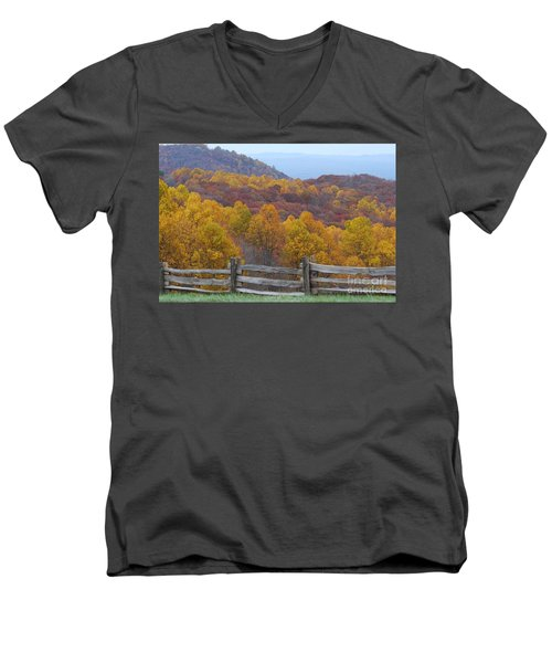 Fall Blend Men's V-Neck T-Shirt by Eric Liller