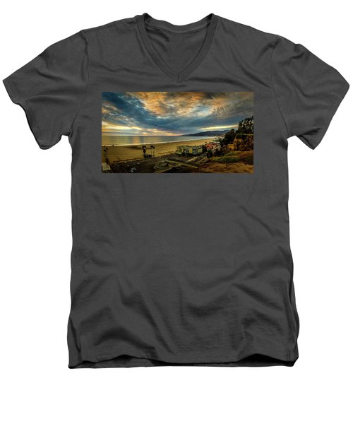 Fall Clouds Over The Bay Men's V-Neck T-Shirt