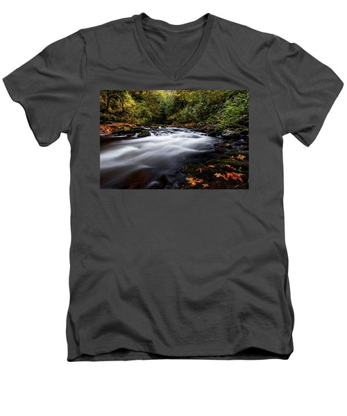 Fall Color At Cedar Creek Men's V-Neck T-Shirt