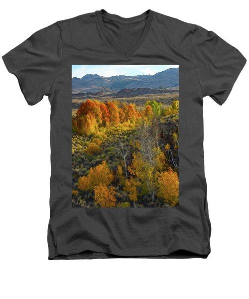 Fall Colors At Aspen Canyon Men's V-Neck T-Shirt