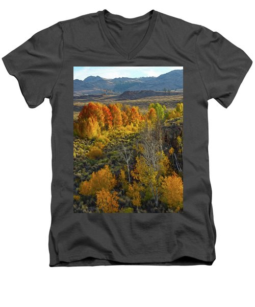Fall Colors At Aspen Canyon Men's V-Neck T-Shirt