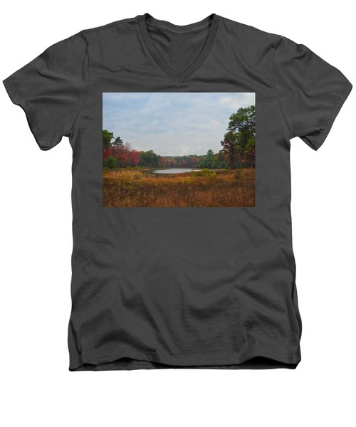 Fall Colors At Gladwin 4459 Men's V-Neck T-Shirt