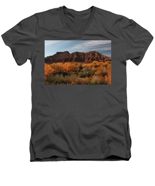 Fall Colors Near Zion Men's V-Neck T-Shirt