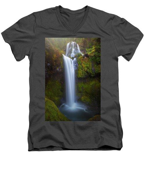 Fall Creek Falls Men's V-Neck T-Shirt by Darren White