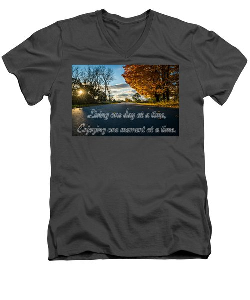 Fall Day With Saying Men's V-Neck T-Shirt