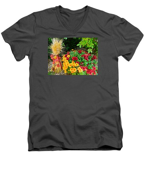 Men's V-Neck T-Shirt featuring the photograph Fall Fantasy by Randy Rosenberger