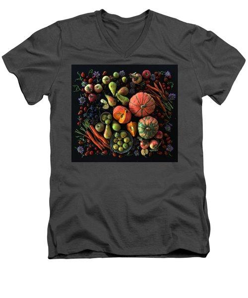 Fall Farmers' Market Men's V-Neck T-Shirt