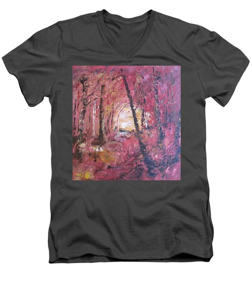 Fall Fire Men's V-Neck T-Shirt