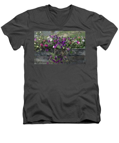 Fall Flower Box Men's V-Neck T-Shirt by Joanne Coyle